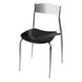 Side Chair with Wood Seat and Metal Back 187WS