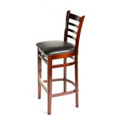 Solid Wood Ladder Back Bar Stool - Mahogany WB101-MH