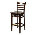 Solid Wood Ladder Back Bar Stool - Walnut WB101-WA