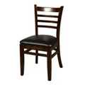 Solid Wood Ladder Back Dining Chair - Walnut WC101-WA