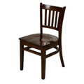 Solid Wood Vertical Back Dining Chair - WalnutWC102-WA