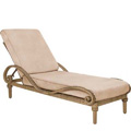 South Shore Adjustable Chaise Lounge with Cushions 640070V