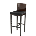 Square Bar Stool with Upholstered Seat