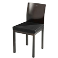 Square Side Chair with Upholstered Seat