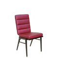 Kay Lang Steel Stacking Side Chair with Horizontal Channel Back CF5503