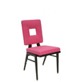 Stacking Steel Side Chair with Square Back and Tapered Leg CF5506