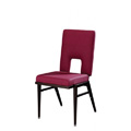 Stacking Steel Side Chair with Top Hat Back and Square Tapered Leg CF5505