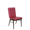 Stacking Steel Side Chair with Vertical Channel Inside Back and Square Tapered Leg CF5504
