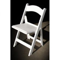 Structure Folding and Stacking Chair, Fire Rated - White