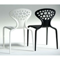 Supernatural Stacking Restaurant Side Chair - Perforated