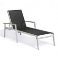 Carrillo Black Sling Chaise Lounge - Tekwood Vintage