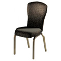 Vario Semi-Flared Back Aluminum Stacking Side Chair with Reeded Frame