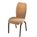 Vario Contoured Back Aluminum Stacking Side Chair with Reeded Frame