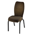 Vario Contoured Back Aluminum Stacking Side Chair with Smooth Frame