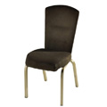 Vario Curve Tapered Back Aluminum Stacking Side Chair with Smooth Frame