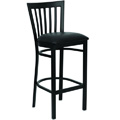 Vertical Back School House Metal Bar Stool