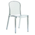 Victoria Stacking Restaurant Side Chair in Clear