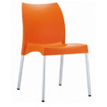 Vita Stacking Restaurant Side Chair in Orange