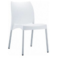 Vita Stacking Restaurant Side Chair in White