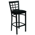 Window Pane Back Bar Stool