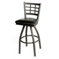 Window Pane Back Swivel Metal Bar Stool SL2163-S