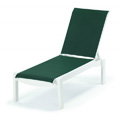 Windward Sling Resin Chaise Lounge with Wheels