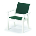 Windward Sling Stacking Resin Cafe Arm Chair