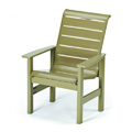 Windward Strap Restaurant Arm Chair with High Back