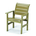 Windward Strap Resin Cafe Arm Chair