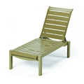 Windward Strap Resin Chaise Lounge with Wheels