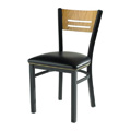 Wood Side Chair with Upholstered Seat 952
