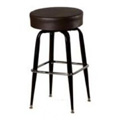 XL Button Top Bar Stool with Black Metal Frame SL3135
