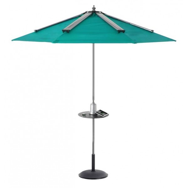 Umbrella with Solar Powered Mobile Device Charger