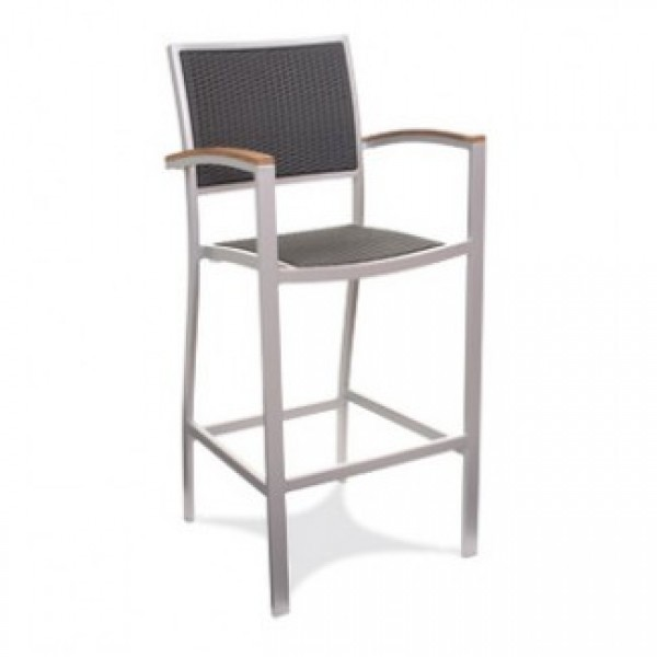 Commercial Outdoor Restaurant Bar Stools Aluminum Bar Stools