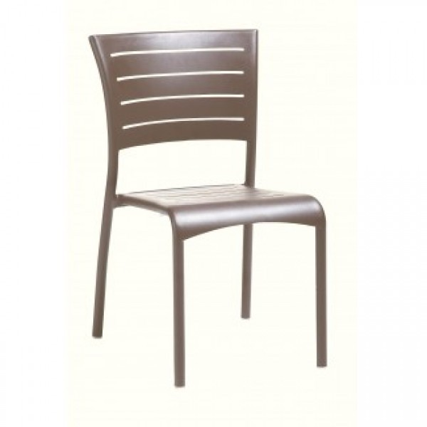 Commercial Outdoor Restaurant Chairs Aluminum Side Chairs