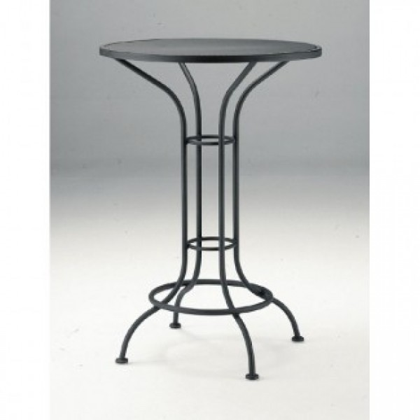 Commercial Outdoor Restaurant High Tables Wrought Iron Bar Tables
