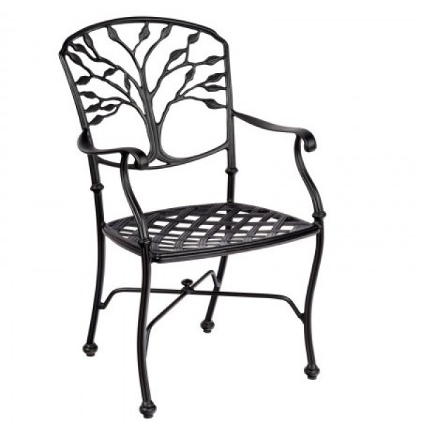 Hospitality Commercial Hotel Cast Aluminum Outdoor Side Chair