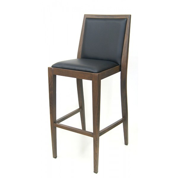 Faux Wood Grain Finish Restaurant Bar Stools