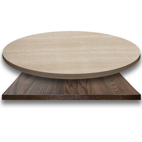 Square Round Rectangle Laminate Wood Edge Engineered Wood Economical Commercial Restaurant Hospitality Healthcare Assisted Living Dining Table Top Made in USA