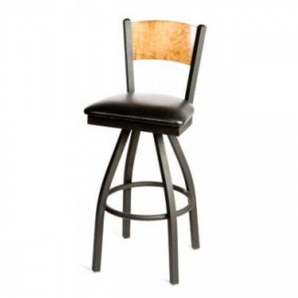 Wood Back Swivel Series Restaurant Bar Stools