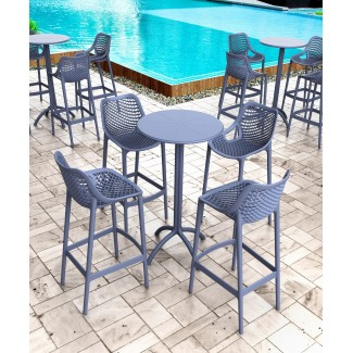 Commercial Resin Stacking Bar Stools