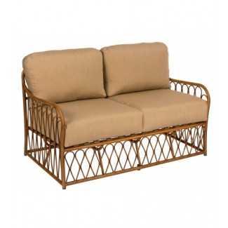 Cane S650021Aluminum Bamboo Outdoor Upholstered Restauarnt Hotel Lounge Seating Loveseat 1
