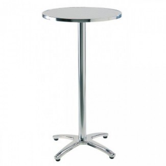 Commercial Outdoor Restaurant High Tables Aluminum Bar Tables