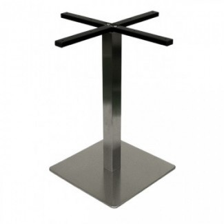 Commercial Outdoor Restaurant Table Bases Futura Stainless Steel Collection Table Bases