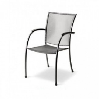 Commercial Restaurant Chairs Wrought Iron Arm Chairs