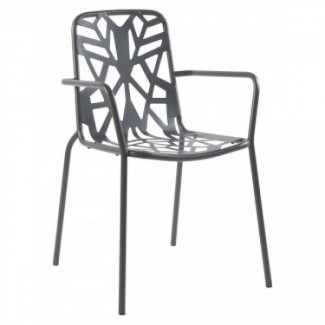 Commercial Wrought Iron Restaurant Chairs Italian Arm Chairs