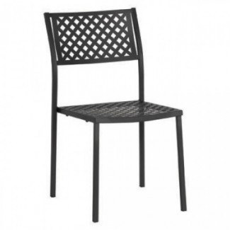 Commercial Wrought Iron Restaurant Chairs Italian Side Chairs