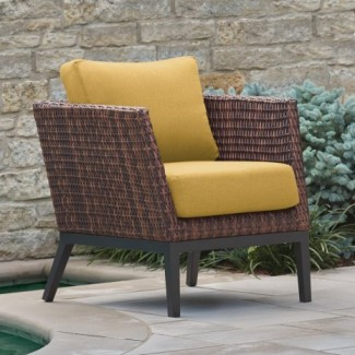 Hospitality Restauarant Hotel Pavion Woven Weave Salino Upholstered Outdoor Deep Seating Lounge Furniture