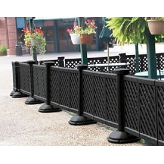 Restaurant Hospitality Portable Fencing Resin Fencing