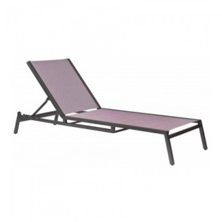 Hospitality Commercial Hotel Outdoor Pool Aluminum and Sling Stackable Chaise Lounge